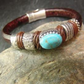 Leather bracelet Mery Thelma