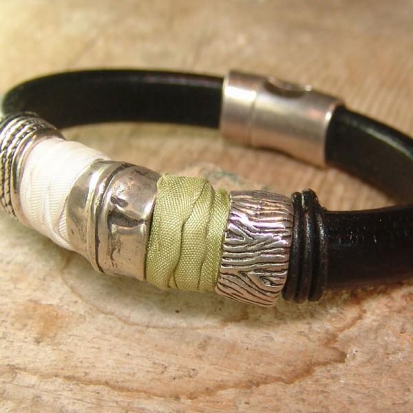 Leather bracelet Mery Txell