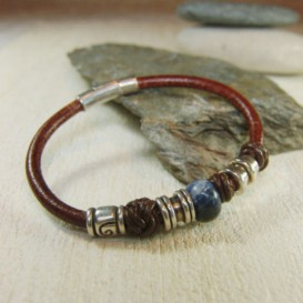 Leather bracelet Mery Flora