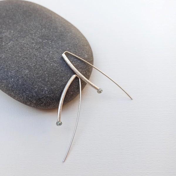 Silver and swarovski earrings JULIETTA SW